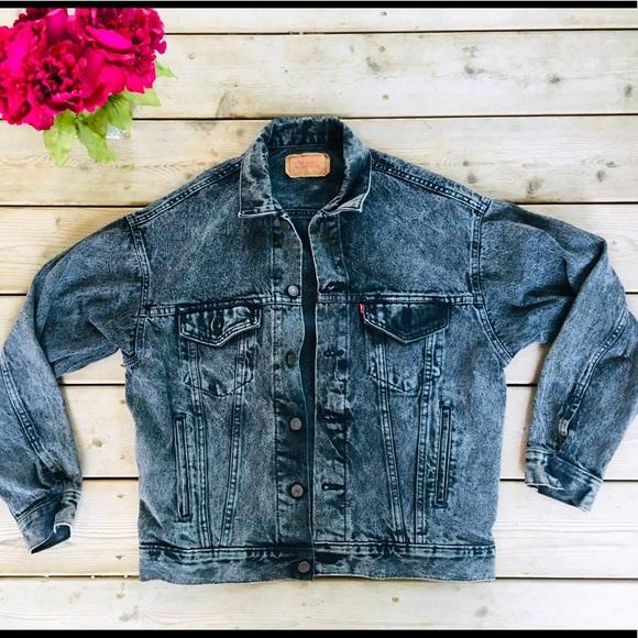 VTG Levi's Acid Wash Trucker Jacket Men's Medium
